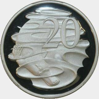 2004 Silver Proof Twenty Cent reverse