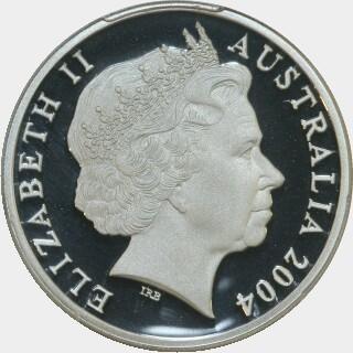 2004 Silver Proof Twenty Cent obverse