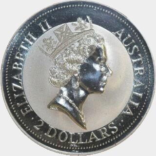 1992-P Silver Two Dollar obverse