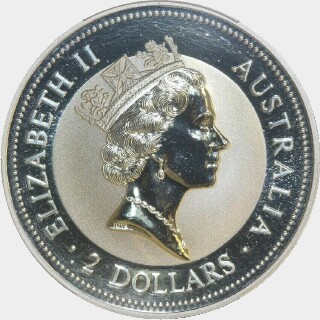 1996-P Ducat Privy Silver Two Dollar obverse