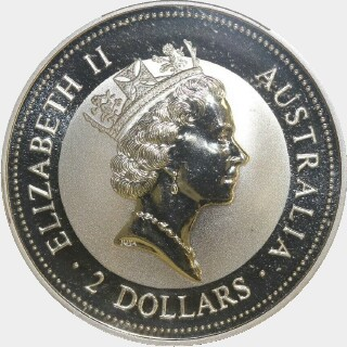 1995-P Silver Two Dollar obverse