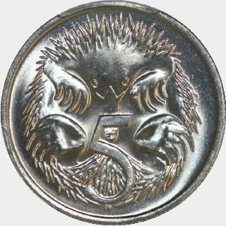 1982  Five Cent reverse