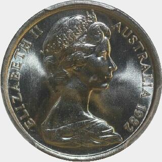 1982  Five Cent obverse