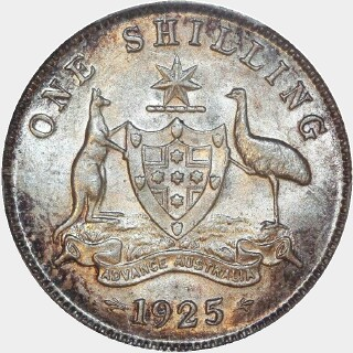 1925/3 Overdate Shilling reverse