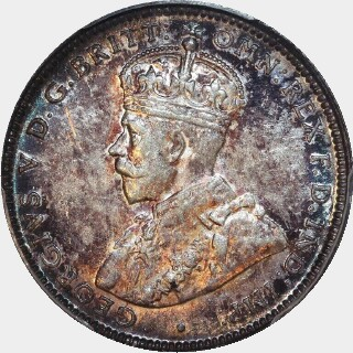 1925/3 Overdate One Shilling obverse
