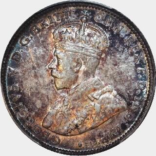1925/3 Overdate Shilling obverse