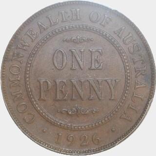 1926  Penny reverse