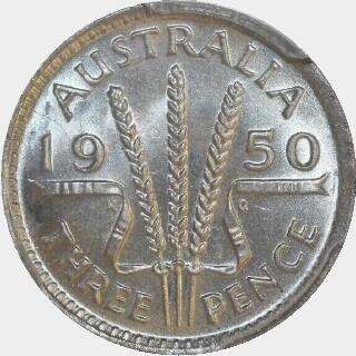 1950  Threepence reverse