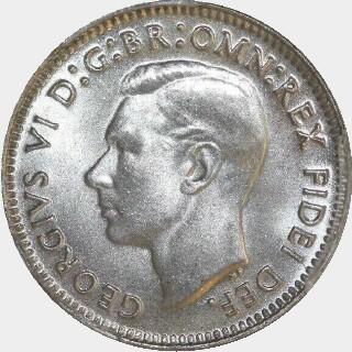 1950  Threepence obverse