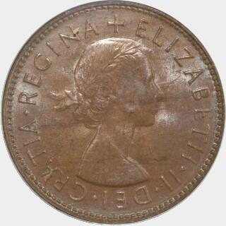1954-Y  Half Penny obverse