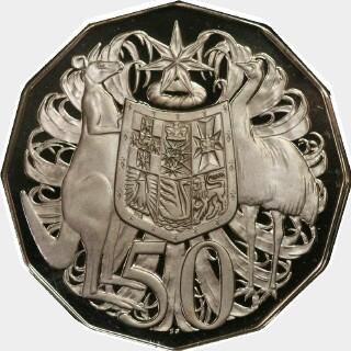 1969 Specimen Fifty Cent reverse
