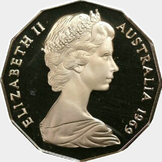 1966 Pattern Fifty Cent obverse