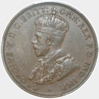 1933/2 Overdate Penny obverse