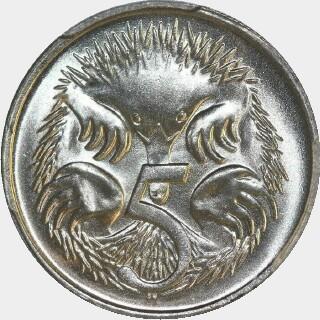 1976  Five Cent reverse