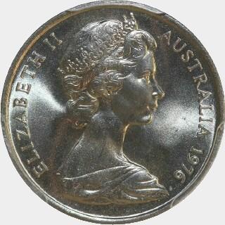 1976  Five Cent obverse
