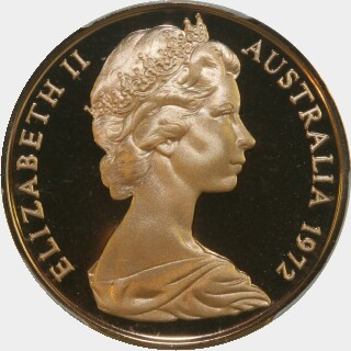 1972 Proof Two Cent obverse