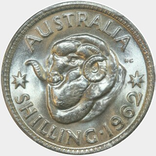 1962  One Shilling reverse