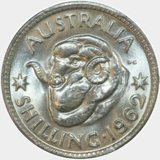 1962  Shilling reverse