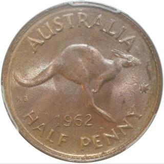 1962-Y  Half Penny reverse