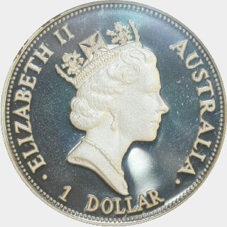 1993-P Proof Silver One Dollar obverse