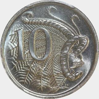 1975  Ten Cent reverse