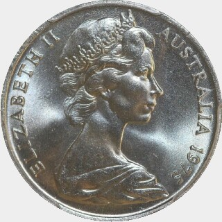 1975  Ten Cent obverse