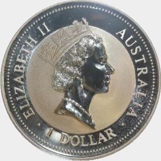 1996-P Silver Tricentennial Privy One Dollar obverse