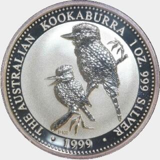 1999-P Silver One Dollar reverse