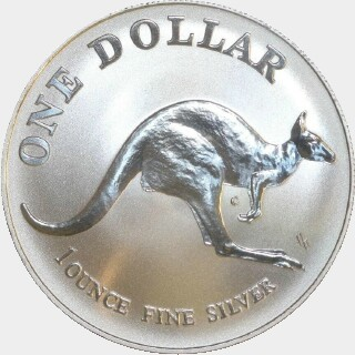 1993 Continuous Milling One Dollar reverse