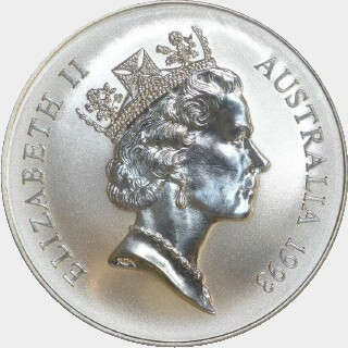 1993 Continuous Milling One Dollar obverse