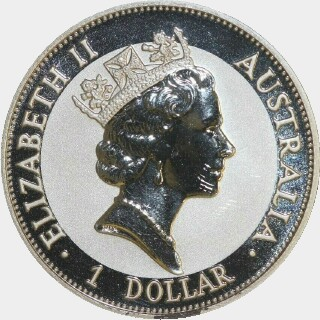 1993-P Silver One Dollar obverse