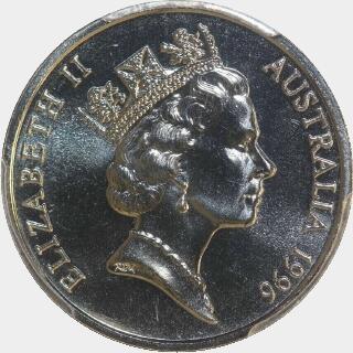 1996  Ten Cent obverse