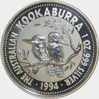 1994-P Silver One Dollar reverse