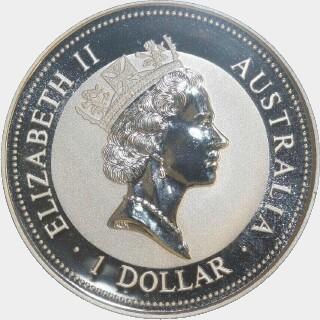 1994-P Silver One Dollar obverse