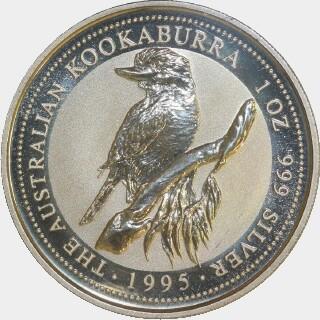 1995-P Silver One Dollar reverse