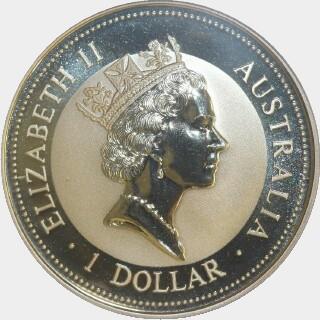 1995-P Silver One Dollar obverse