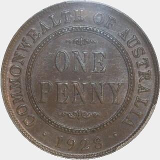 1928  Penny reverse