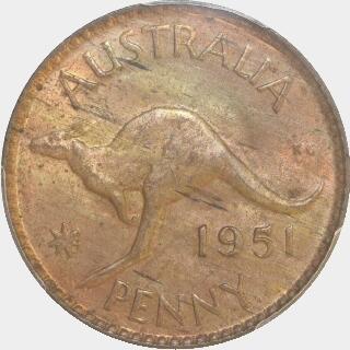1951-Y  Penny reverse