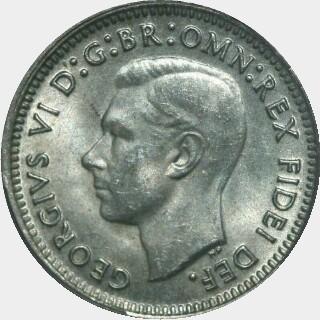 1951  Threepence obverse