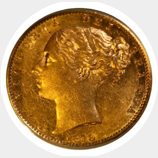 1879-S  Full Sovereign reverse