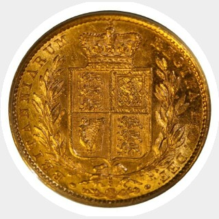 1879-S  Full Sovereign obverse