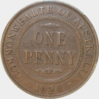 1920 Dot Above Top Scroll Penny reverse