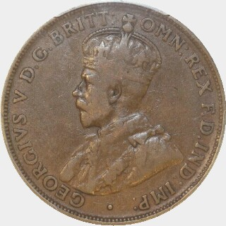 1920 Dot Above Top Scroll Penny obverse