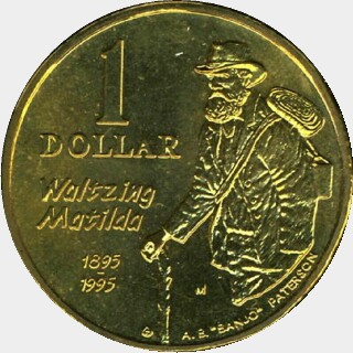 1995-B  One Dollar reverse