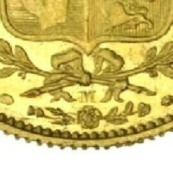 M mintmark of the Melbourne mint