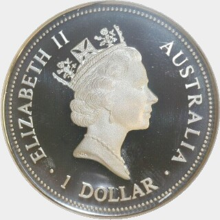 1997-P Proof Silver One Dollar obverse