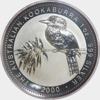 2000-P Silver One Dollar reverse