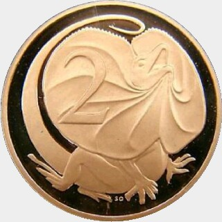 2006 Gold Proof Two Cent reverse