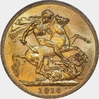 1916-P  Full Sovereign reverse