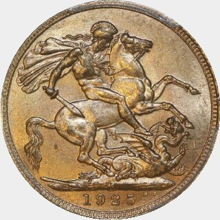 1925-M  Full Sovereign reverse